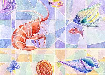 Painting - Sea Life by Melinda Fawver
