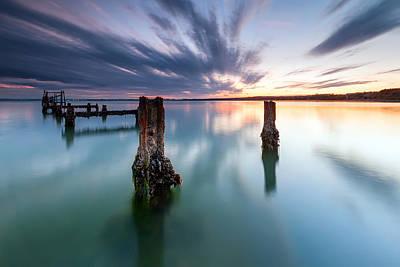 Quay Photograph - Sea Like A Glass by Evgeni Dinev
