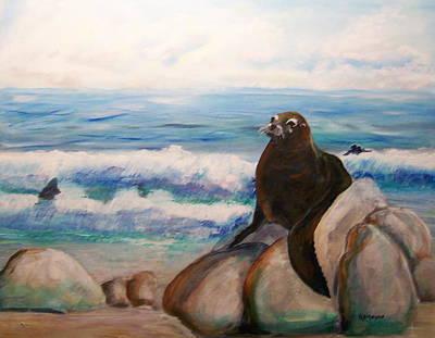 Sea Lion Art Print by Rich Mason