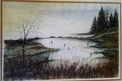 Sea Marsh Sold Art Print by Richard Benson