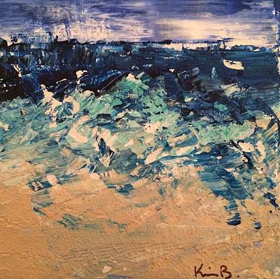 Pallet Knife Painting - Sea Mist by Kimberly Balentine