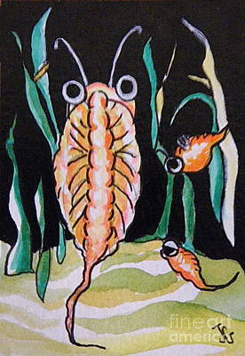 Art Print featuring the painting Sea Monkey by Joyce Gebauer