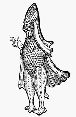 Sea Monsters Painting - Sea Monster, 1560 by Granger
