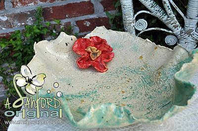 Bisque Ware Sculpture - Sea N' Red by Amanda  Sanford