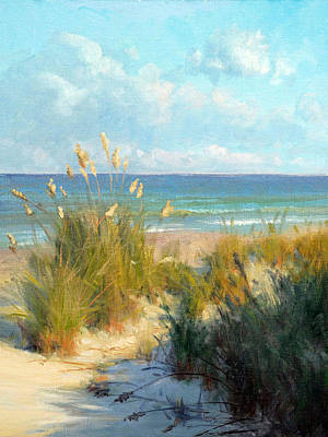 St. Simons Island Painting - Sea Oats by Armand Cabrera