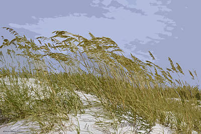 Art Print featuring the photograph Sea Oats by Kathy Ponce