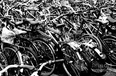 Art Print featuring the photograph Sea Of Bicycles 2 by Joey Agbayani