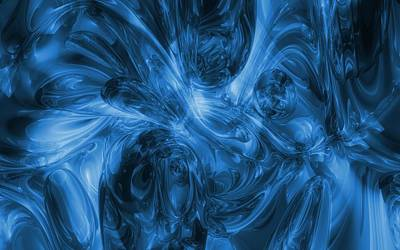 On Trend At The Pool - Sea Of Blue - Abstract Art by Louis Ferreira