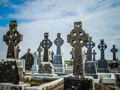 Photograph - Sea  Of Celtic Crosses by James Truett