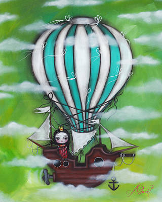 Pop Surrealism Painting - Sea Of Clouds by  Abril Andrade Griffith