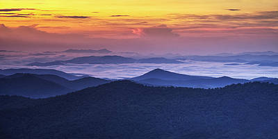 Sea Of Clouds At Sunrise Art Print by Andrew Soundarajan