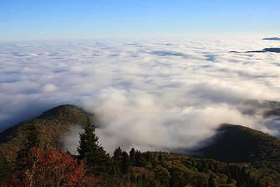 Sea Of Clouds On The Blue Ridge Parkway Art Print