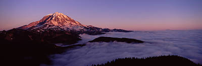 Clear Sky Photograph - Sea Of Clouds With Mountains by Panoramic Images