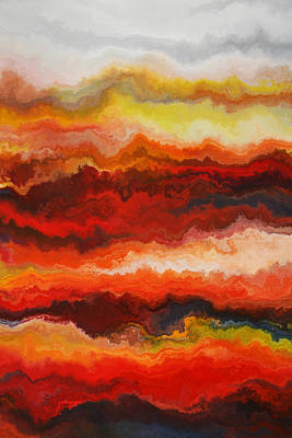 Sea Of Fire  Art Print by Andrada Anghel