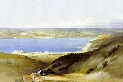 Sea Of Galilee Art Print by Munir Alawi