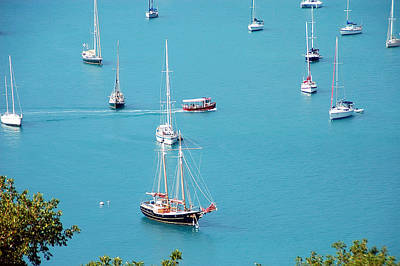 Blue Pirate Ships Landscape Photograph - Sea Of Sailboats by Aimee L Maher Photography and Art Visit ALMGallerydotcom