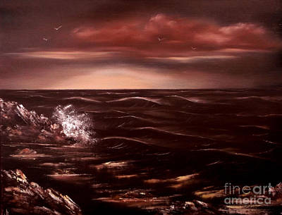 Cynthia-adams-uk Painting - Sea Of Serenity by Cynthia Adams