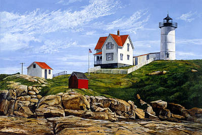 Nubble Painting - Sea Of Stone by Marla J McCormick