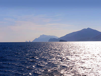 Photograph - Sea Off The Amalfi Coast by Brenda Kean