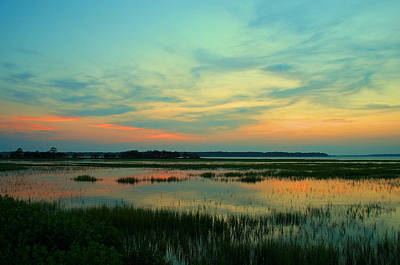Marsh Photograph - Sea Pines Sunset by Tony Delsignore