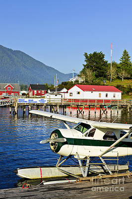 Vancouver Island Photograph - Sea Plane At Dock In Tofino by Elena Elisseeva