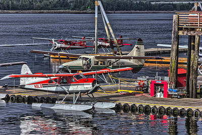 Sea Planes  1s14v1 Art Print by Timothy Latta