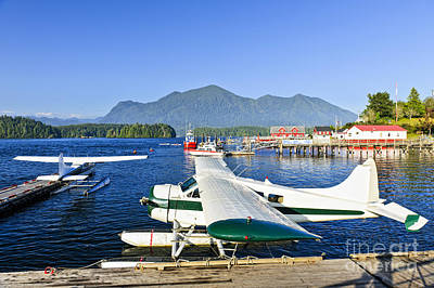Vancouver Island Photograph - Sea Planes At Dock In Tofino by Elena Elisseeva