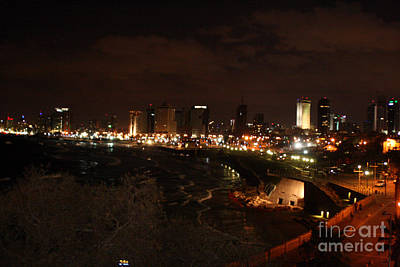 Photograph - Sea Port At Jaffa Nighttime by Doc Braham