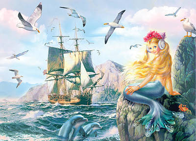 Sea Princess Art Print