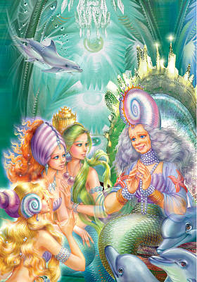 sea princesses And Queen Mother Art Print