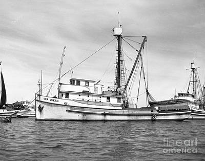 Photograph - Purse Seiner Sea Queen Monterey Harbor California Fishing Boat Purse Seiner by California Views Archives Mr Pat Hathaway Archives