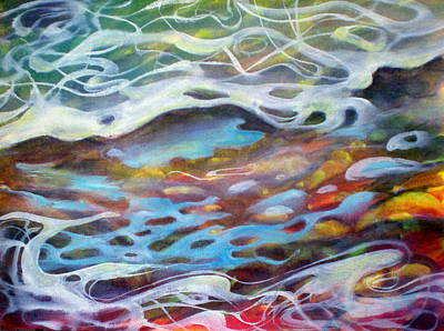 Surf Painting - Sea Reflections Two by Richard Rochkovsky