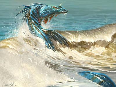 Wall Art - Digital Art - Sea Serpent by Aaron Blaise