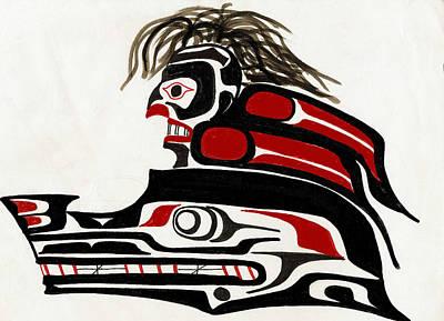 Wolve Photograph - Sea Serpent Headdress by Micah McCarty  Makah tribe