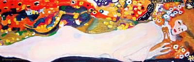 Like Klimt Painting - sea serpent III after Gustav Klimt by Anna Porter