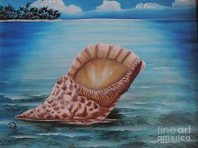 Sea Shell Art Print by Dianna Lewis