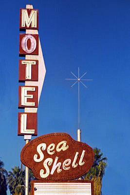 Shell Sign Digital Art - Sea Shell Motel Film Image by Matthew Bamberg