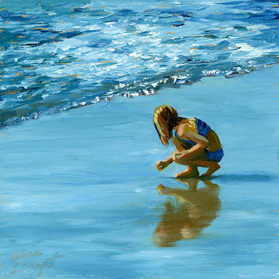 Painting - Sea Shell Seeker by Alice Leggett