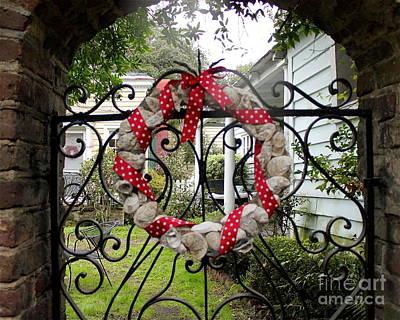 Sea Shell Wreath Art Print by Joyce Weir