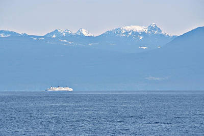 Photograph - Sea Ship And Hills by Devinder Sangha