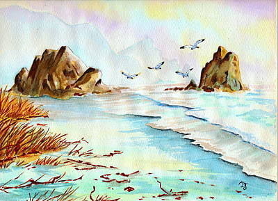 Painting - Sea Shore Impressions by Dale Jackson