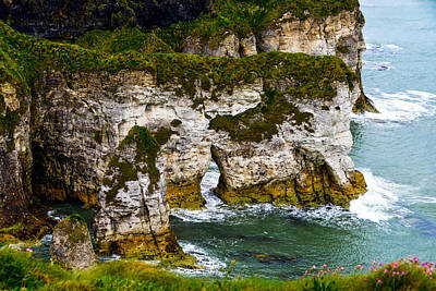 Photograph - Sea-side Cliffs By Dunluce Castle by Marilyn Burton