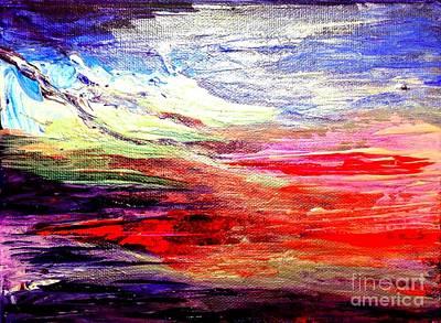 Sea Sky I Art Print by Karen  Ferrand Carroll