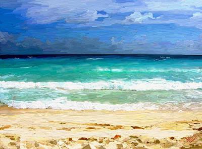 Sea Sky Sand Art Print