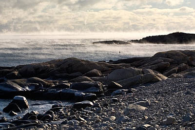 Photograph - Sea-smoke At Schoodic by Brent L Ander