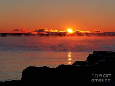 Photograph - Sea Smoke Sunrise II by Christine Stack