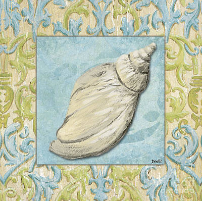 Shell Painting - Sea Spa Bath 2 by Debbie DeWitt