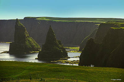 Landscape Photograph - Sea Stacks At Duncansby Head by Roger Wedegis