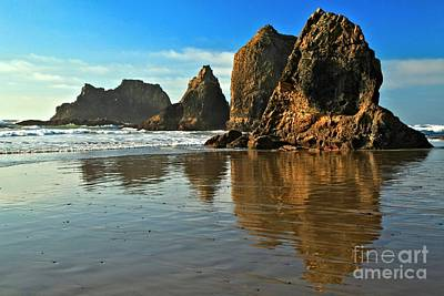 Photograph - Sea Stacks At Oceanside by Adam Jewell
