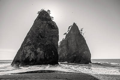 Photograph - Sea Stacks In Black And White by Pierre Leclerc Photography